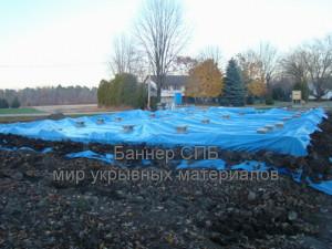 nakrit fundament na zimu, Накрыть фундамент на зиму тентом